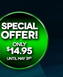 Special Offer! Only $14.95 until May 31st