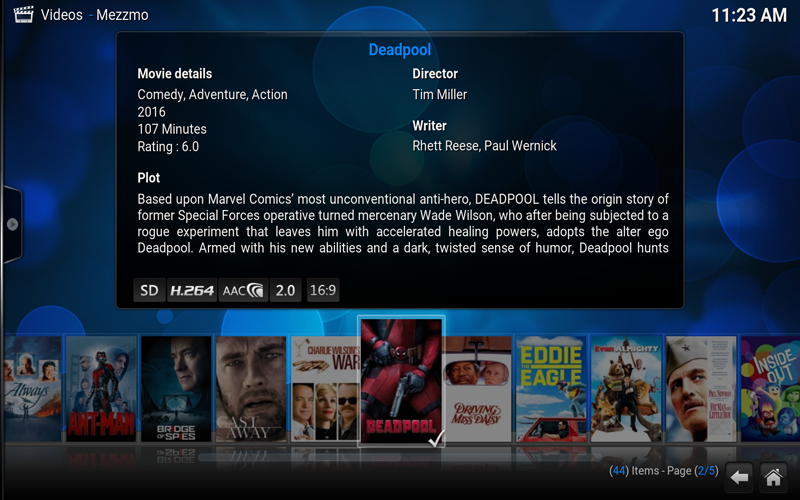 Mezzmo for Kodi Add-on - Movies