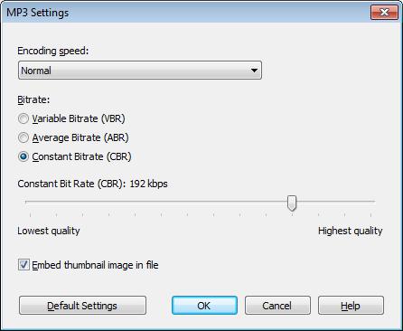 MP3 Settings [Mezzmo]